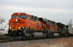 BNSF 7612 & 4855 lead a NS train northbound