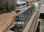 NS 9366 leads train 213 southbound