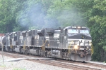 NS 9361 leads 3 EMD units southbound on train 119 at Reid