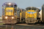 CSX 7607 and UP 8408