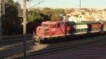 Ferromex passing by Queretaro Station