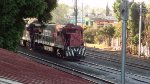 Ferromex Super 7's passing by Queretaro Station