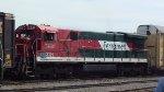 Ferromex loco moving cars in the yard