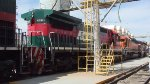 Ferromex locos at service