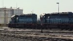 FXE SD40-2 locos at yard