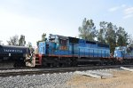 FXE SD40's ex-FNM in blue scheme leading train
