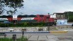 Ferromex locos passing by Creel Station
