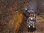 Cp 159 pulls up 8 locos
