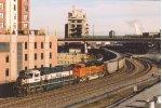 DPUs on rear of empty coal train