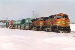 Eastbound stack train departs Northtown Yard 