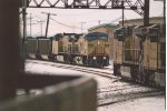 Eastbound coal loads prepare for meet at diamond