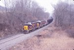 OHCR 3247 trail a coal train heading into Crooksville