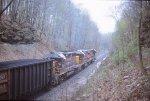 OC coal train heading north on the secondary