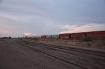 Mixed freight train heading southbound at Hermosillo