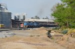 Ferrromex train loaded with scrap passing by Las Juntas
