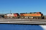 BNSF 4615 & BNSF 717 Moving From The Fuel Track To The Ready Track