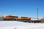BNSF 6929 & BNSF 1813 Classifing Rolling Stock
