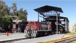 Ferromex locos at washing facilities