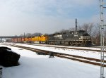 NS 8962; BNSF 9951 and 9393