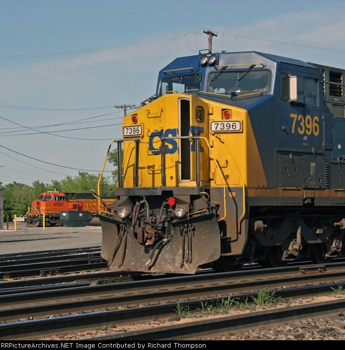 CSX 7396 & BNSF 4500