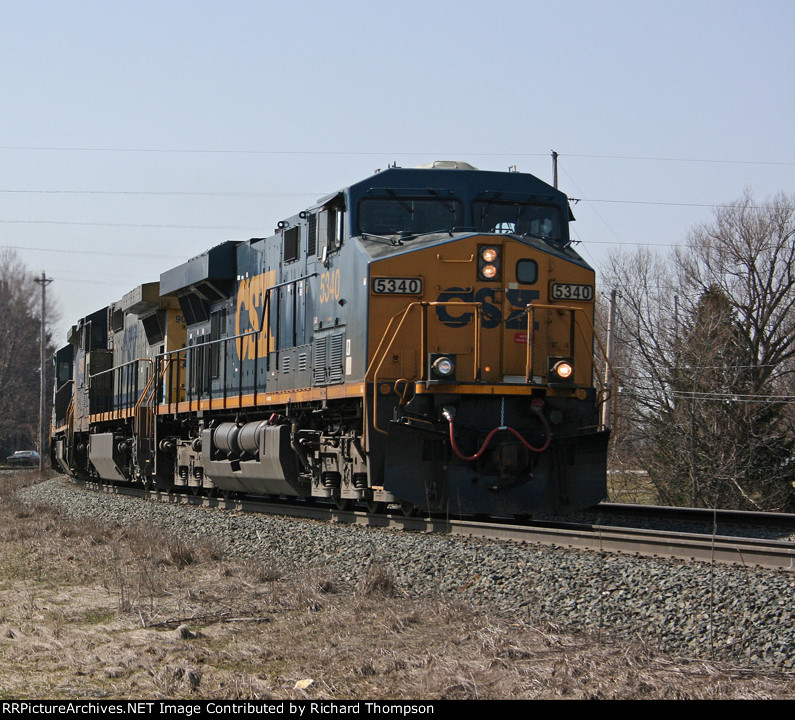 CSX 5340 on CSX Q110-19 (Conductor Bill Mitrovich)