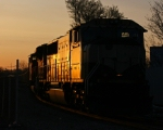 BNSF 9801 in the Sunrise