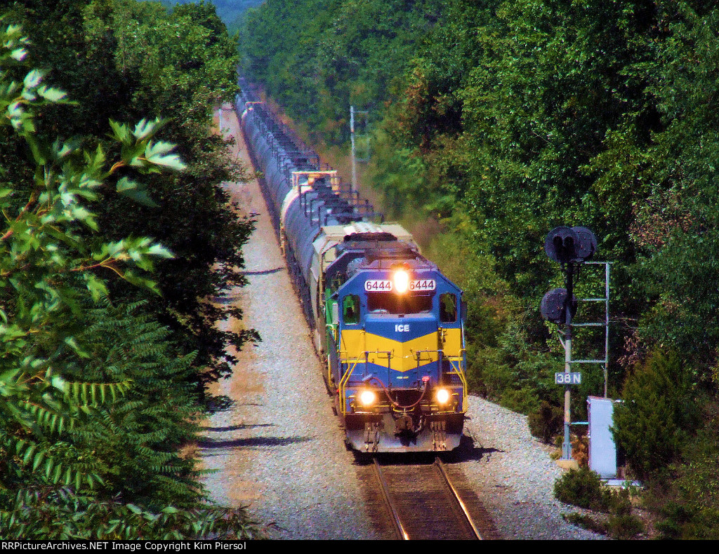 ICE 6444 NREX 7275 K485-21 Ethanol Empties on CSX Trenton Line