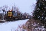 CSX 7636 W866-07 ALCOA Bauxite Loads Covered Hopper Train
