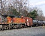 BNSF 4778 on NS 69Q Ethanol Empties