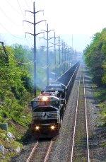 NS 6726 Train 517 Coal Empties