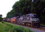 NS 8000, BNSF 635 Santa Fe Warbonnet, KCS 4614 NS 66Q Ethanol Loads