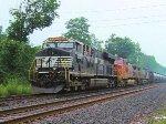 NS 8000, BNSF 635 Santa Fe Warbonnet, KCS 4614 NS 67Q Ethanol Empties