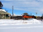 110115023 DPU Shoving Eastbound BNSF Coal Train