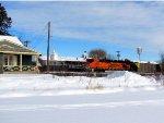 110115023 DPU Shoving Eastbound BNSF Coal Train