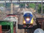 110608024 Westbound Northstar MNRX Commuter passes BNSF Northtown CTC 35th