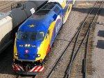 110608026 Westbound Northstar MNRX Commuter passes BNSF Northtown CTC 35th