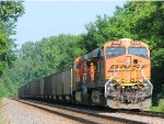 110718001 Eastbound BNSF Coal Train (COLX) Waits In The Wayzata Siding