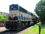 110718031 Eastbound BNSF Coal Train (COLX) Passes Wayzata Depot With DPU Shoving