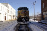 KCS 4594 between two icy streets