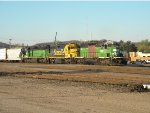 BNSF 1837 leads this awsome lashup out of the yard