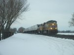 UP 5277 eastbound UP intermodal train
