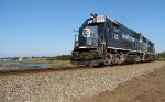 A pair of FEC geeps huscle 105 through St. Augustine