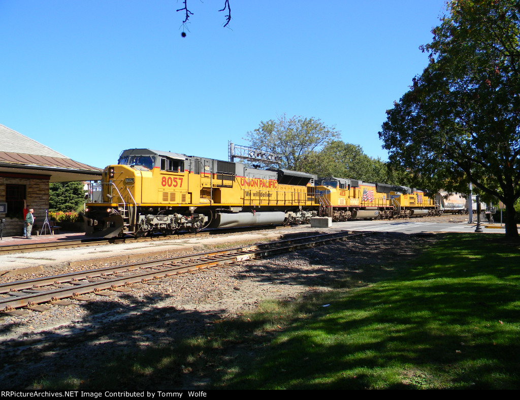 UP 8057 Leads an All UP EMD Lash Up on UP Train MASNP-01