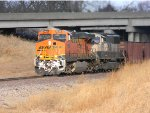 BNSF 5898 Leading an empty Ore Train South on the K-Line