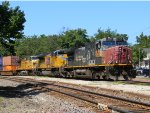 UP 6281 Leads a Eastbound Intermodal Train