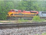 KCS 4107 and TFM 1636 team up to Lead a Intermodal in the Rain