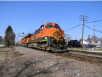 BNSF 1072 Passes the Rochelle Railroad Park