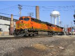 BNSF 7691 Leads a Westbound Z-Train with a BNSFbonet SD75I
