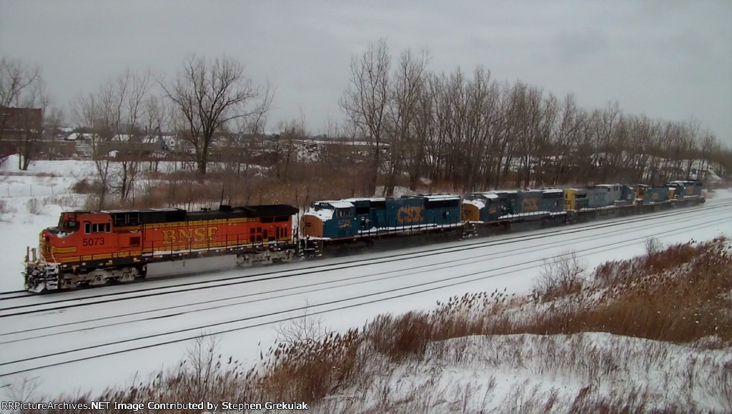 BNSF 5073 & 5 CSX Locomotives