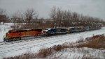 BNSF 5073 & 5 CSX Locomotives